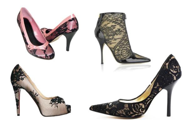 renda sapatos 1 Sapatos Com Renda!