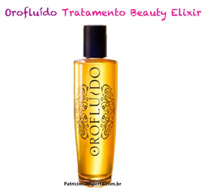 ouro fluido - Óleo Orofluído Beauty Elixir - Óleo de ARGAN + 2 poderosos óleos..