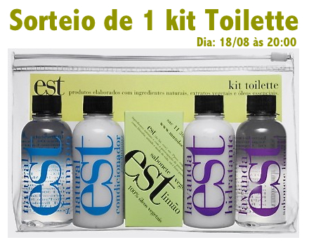 sorteio de 1 kit toilette encerrado patricinha esperta. Black Bedroom Furniture Sets. Home Design Ideas