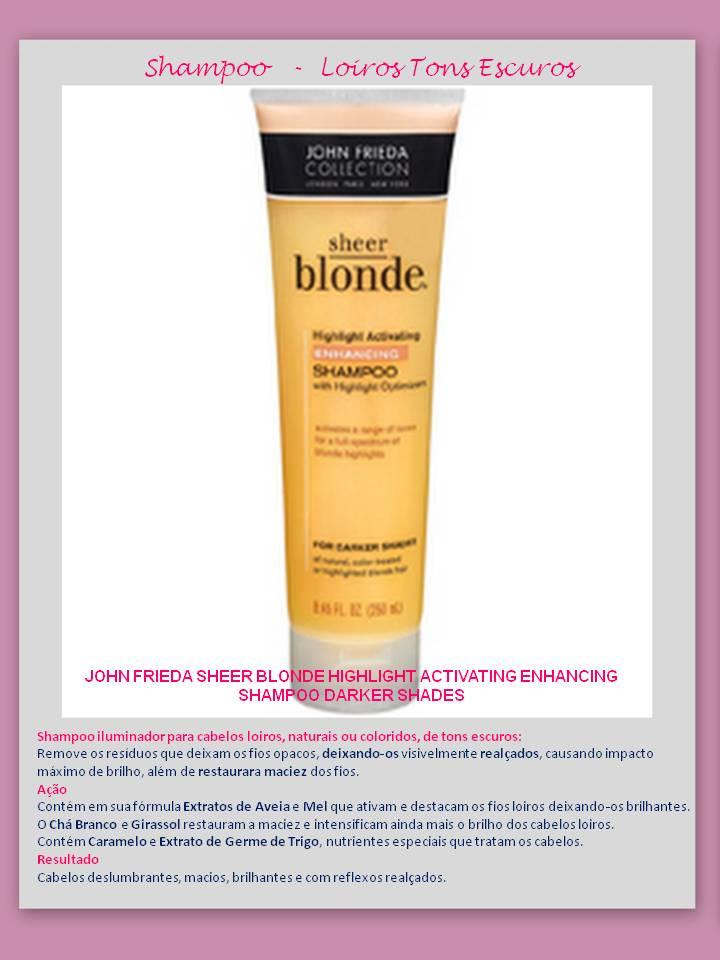 Shampoo Highlight Enhancing Eu uso – Shampoo para CABELOS LOIROS – Jhon Frieda!