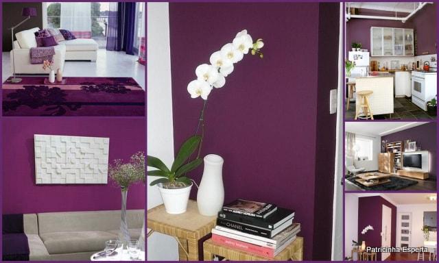 Sala De Estar Roxa ~  da cama , se pintada de roxo , deixa o quarto acolhedor e lindo