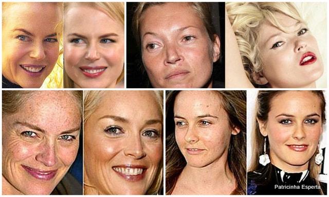 Colagens1 - Celebridades: O Poder da Maquiagem