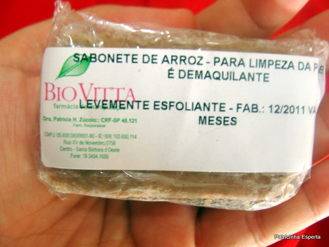 DSC06912  Sabonete de Arroz: É Demaquilante e Clareia a Pele!