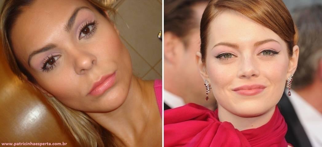capaemmapost - Tutorial - Maquiagem inspirada na atriz Emma Stone - Oscar 2012