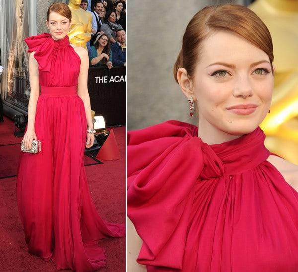vestidos oscar 2012 emma stone - Tutorial - Maquiagem inspirada na atriz Emma Stone - Oscar 2012