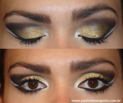 025post Tutorial   Maquiagem Dourada e Preta com Branco para Festas