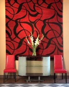 tapete vermelho parede - Tapete na decoração