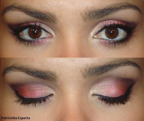 Maquiagem vermelho cereja e vinho - Patricinha Esperta