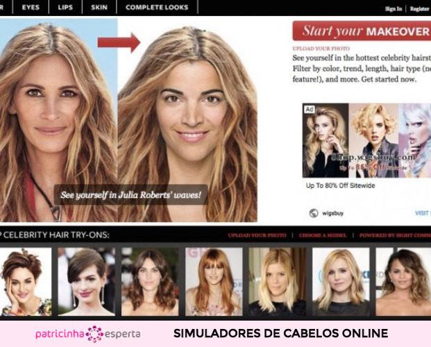 Simulador de cabelo com fotos de celebridades 621x500 - Simulador de Cabelo: Corte e Cor