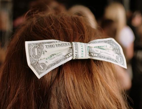 money on hair