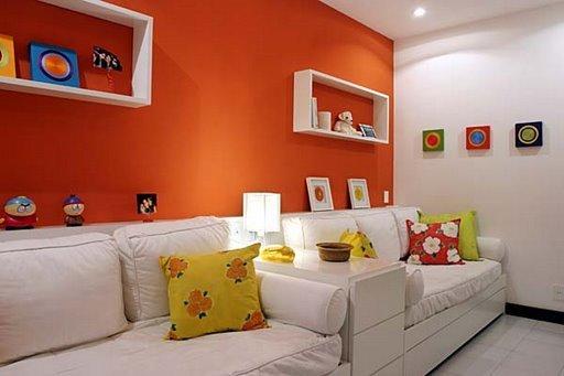 Ideias Para Pintar Uma Sala De Estar ~ Cores fortes na decoração  Patricinha Esperta