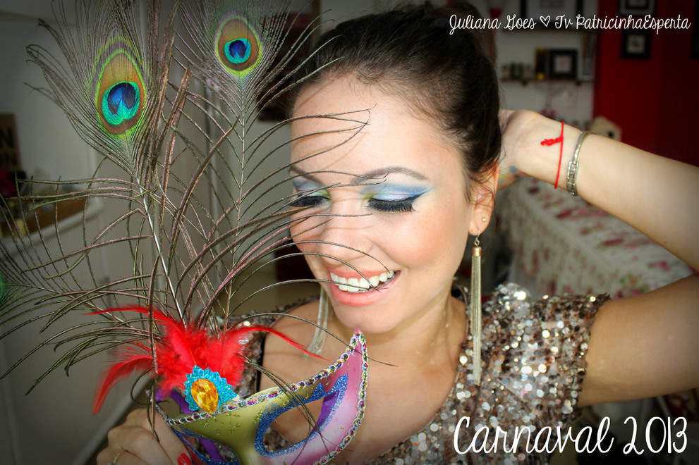 juliana goes carna Tutorial: Maquiagem Colorida para arrasar no Carnaval