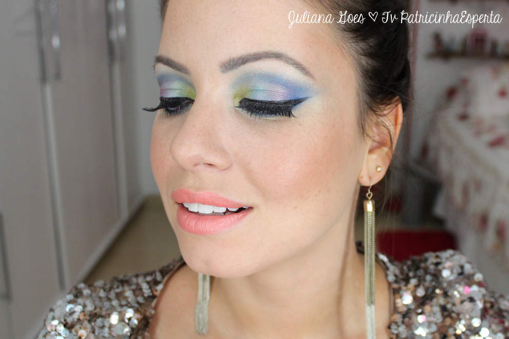 juliana goes colors Tutorial: Maquiagem Colorida para arrasar no Carnaval