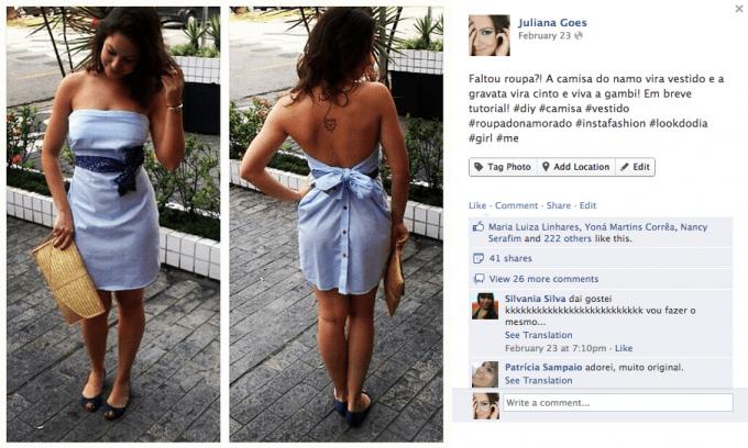 juliana goes camisa do namorado 680x408 - DIY: Como fazer um Vestido com a Camisa do Namorado?