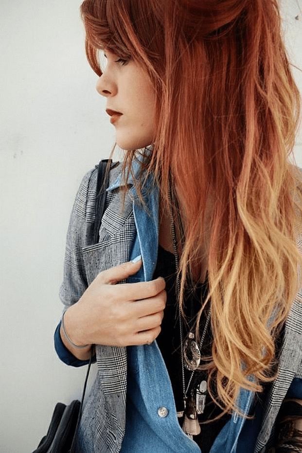 haairluap - Tendência: agora é a vez das ruivas arrasarem com o ombré hair