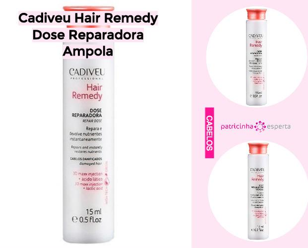 Cadiveu Hair Remedy Dose Reparadora Ampola - Produtos Para Cabelos Danificados: Favoritos - Top 10