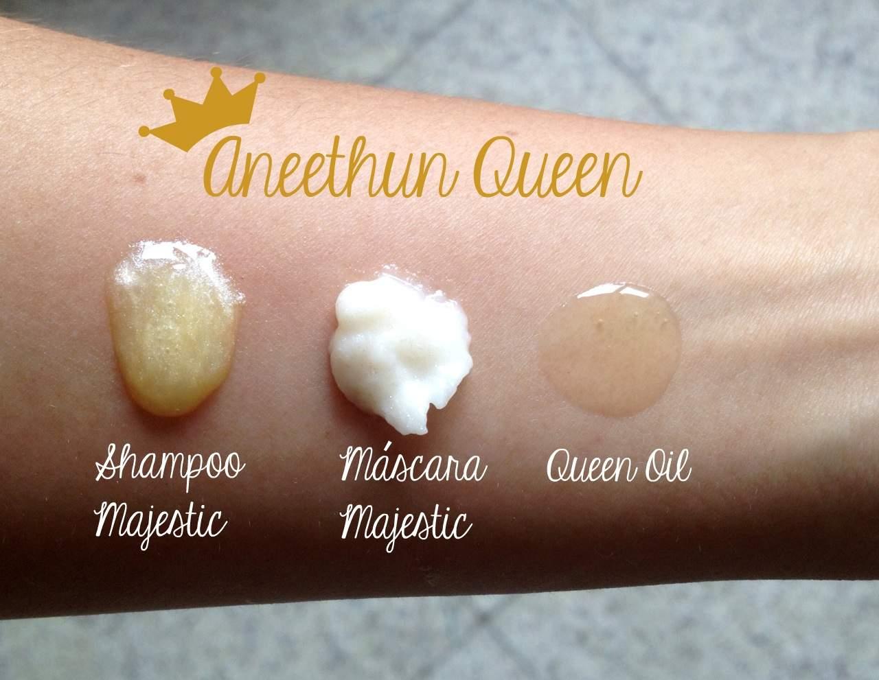 aneethun queen shampoo oleo mascara - Quer cabelos de Rainha? Conheça a linha completa Aneethun Queen