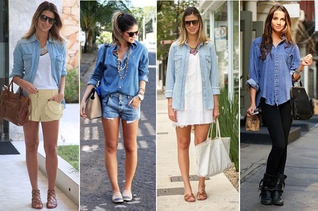camisajeans2 - Camisa Jeans: como usar