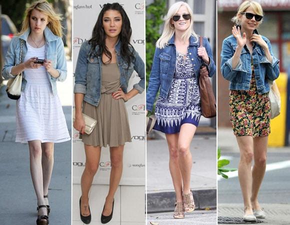 looks famosas jaqueta jeans - Camisa Jeans: como usar