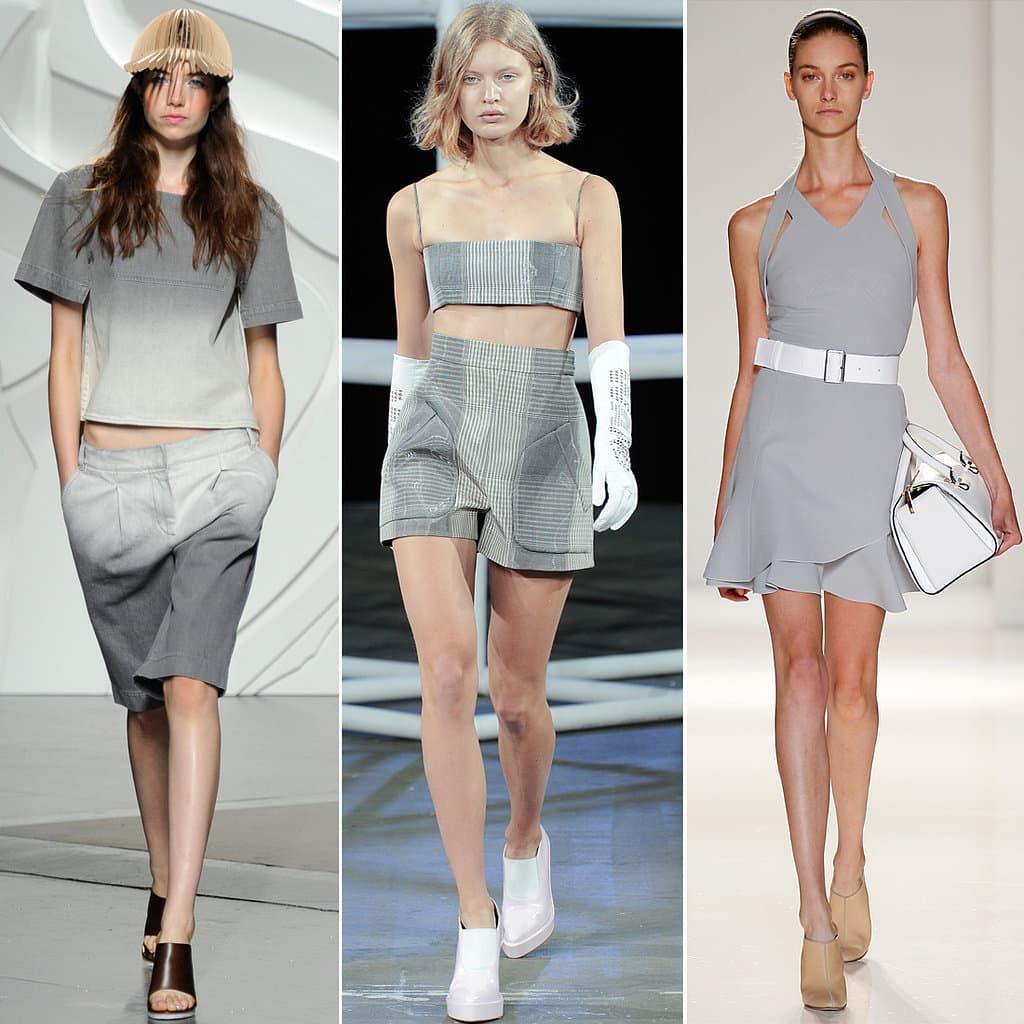 roupa moda cinza