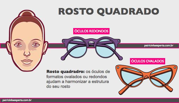 oculos para rosto quadrado