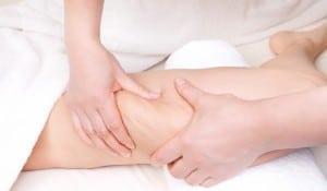 Therapist doing  anti cellulite massage to improve skin condition