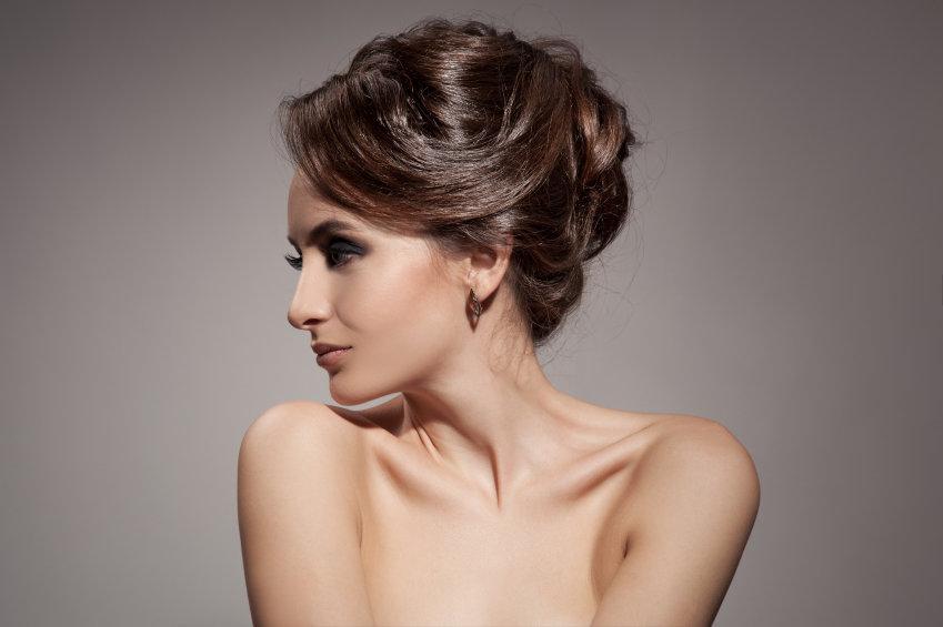 Beautiful Brunette Woman. Hairstyle.