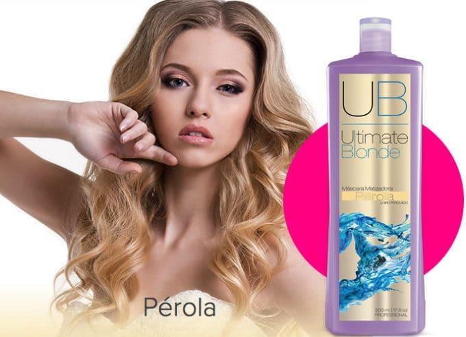 Ultimate Blonde UB Máscara Matizadora Pérola 500ml