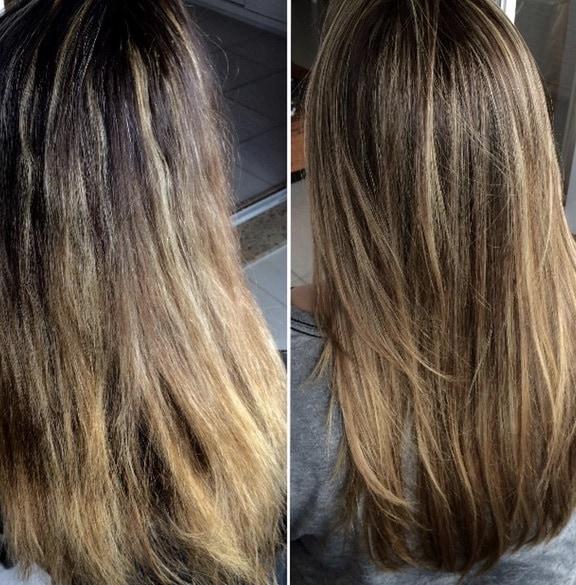 antes e depois exo hair