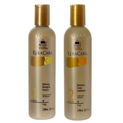 Avlon KeraCare Duo Kit Shampoo Detangling 240ml e Creme Condicionador Humecto 240ml - Avlon Profissional Em Oferta