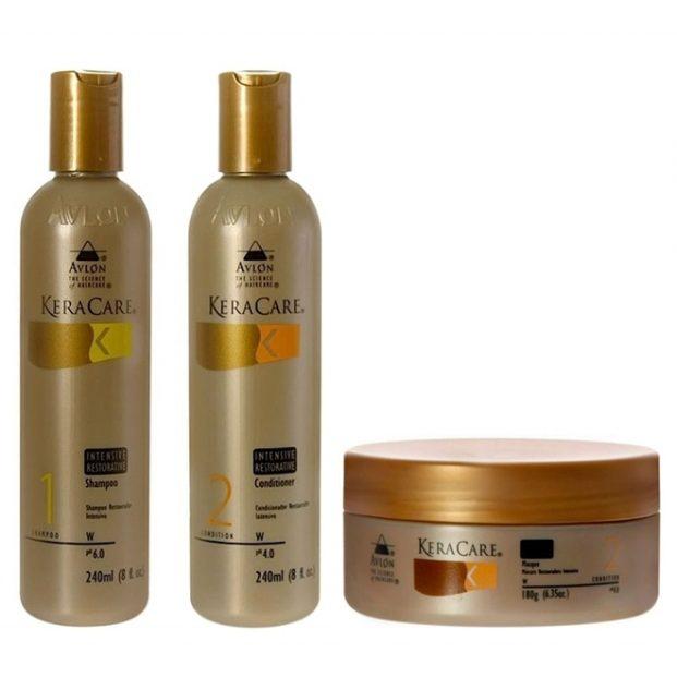Avlon KeraCare Intensive Restorative Kit Restaura  o Intensiva Shampoo 240ml Condicionador 240ml e M scara 180ml  621x621 - Avlon Profissional Em Oferta