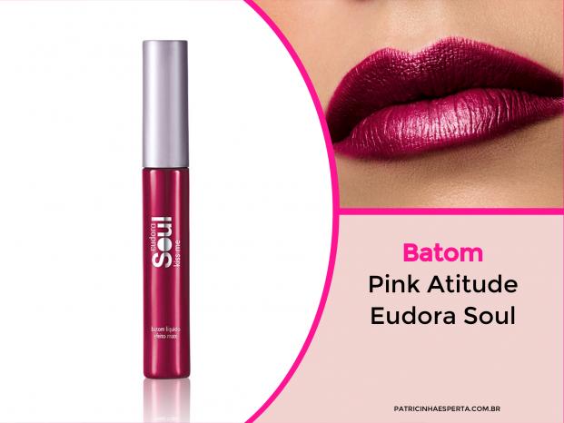 Batom Eudora Pink Atitude