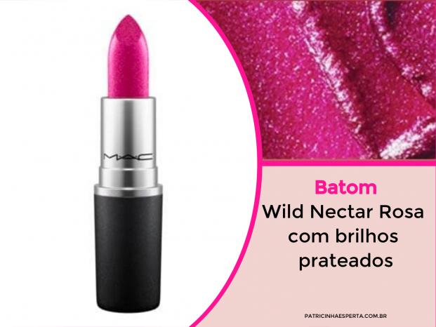 Wild Nectar Rosa com brilhos prateados