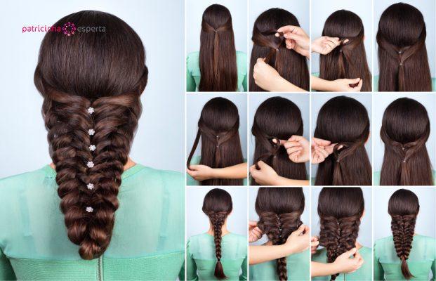 Penteados para madrinhas de casamento a noite cabelos longos