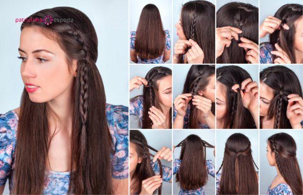 penteado para madrinha de casamento liso