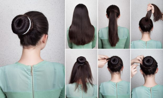 penteado coque e acessório para madrinha de casamento foto