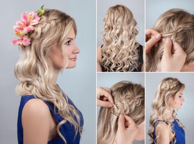 penteados para madrinha de casamento cabelo longo e liso