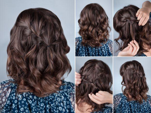 penteado para madrinha de casamento em cabelo medio