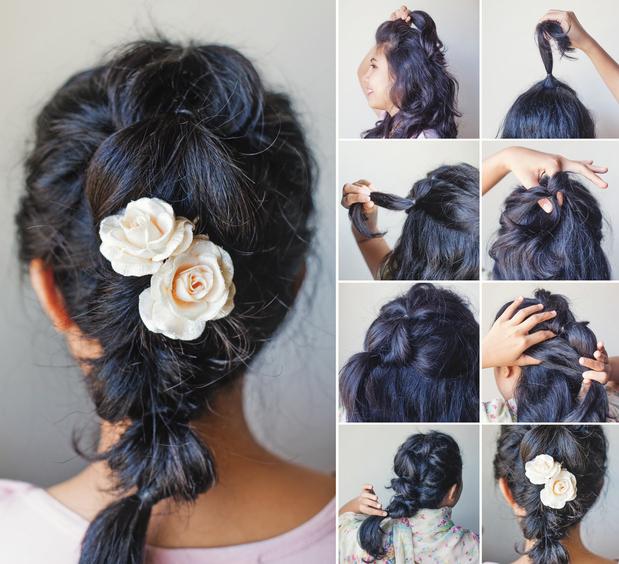 penteados para madrinhas de casamento a noite com trança