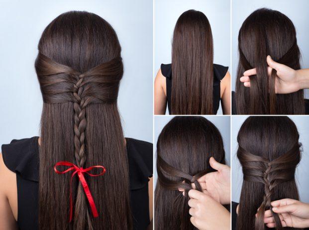 penteados para madrinha de casamento cabelos longos e lisos