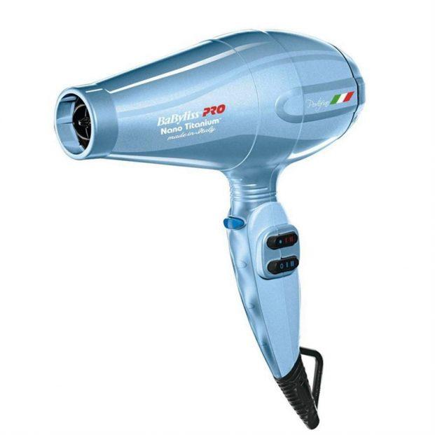 Secador Babyliss Pro Nano Titanium Portofino 6600 Ion Azul 2000W 220V