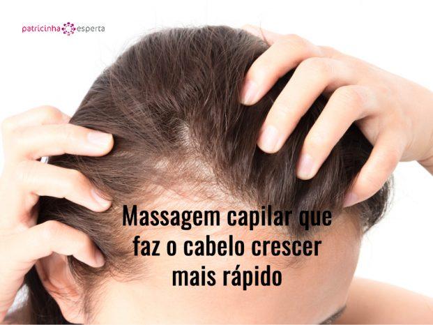 Massagem capilar que faz o cabelo crescer mais rápido