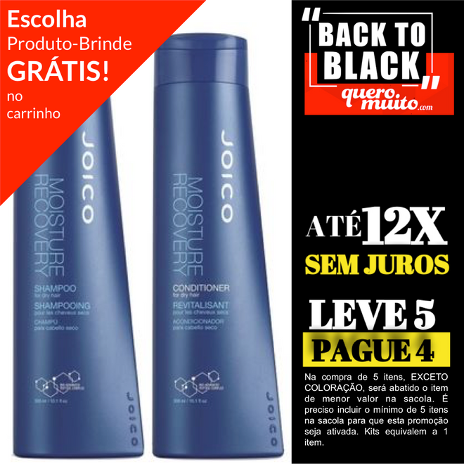 moisture recovery kit back to black 1 - Back To Black Começou - Corre! Até 60%OFF