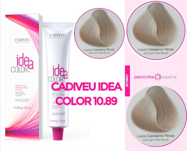 Cadiveu Idea Color 1089 - Banho de Brilho Loiro Acinzentado: Passo a Passo, Cores, Tintas [Novo]