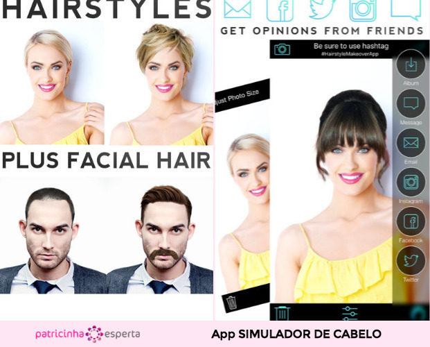 Simulador de cabelo  Hairstyle Makeover 621x500 - Simulador de Cabelo: Corte e Cor