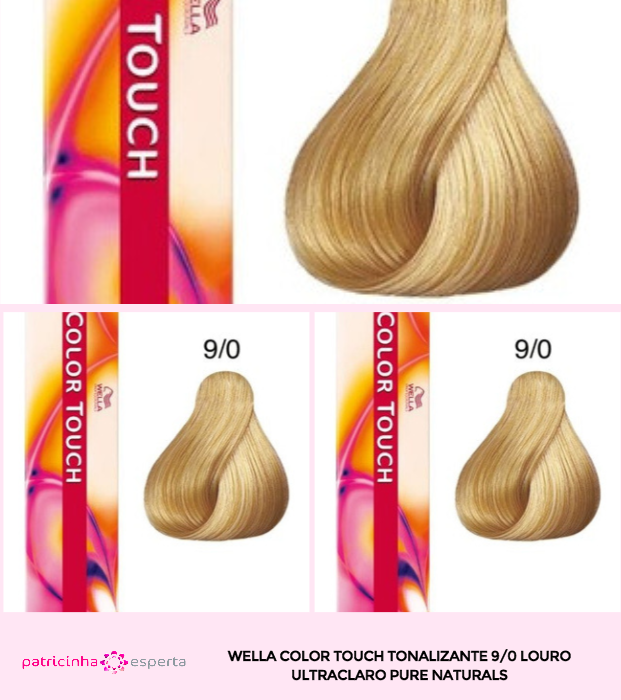 Wella Color Touch Tonalizante 90 Louro Ultraclaro Pure Naturals - Banho de Brilho Loiro Acinzentado: Passo a Passo, Cores, Tintas [Novo]