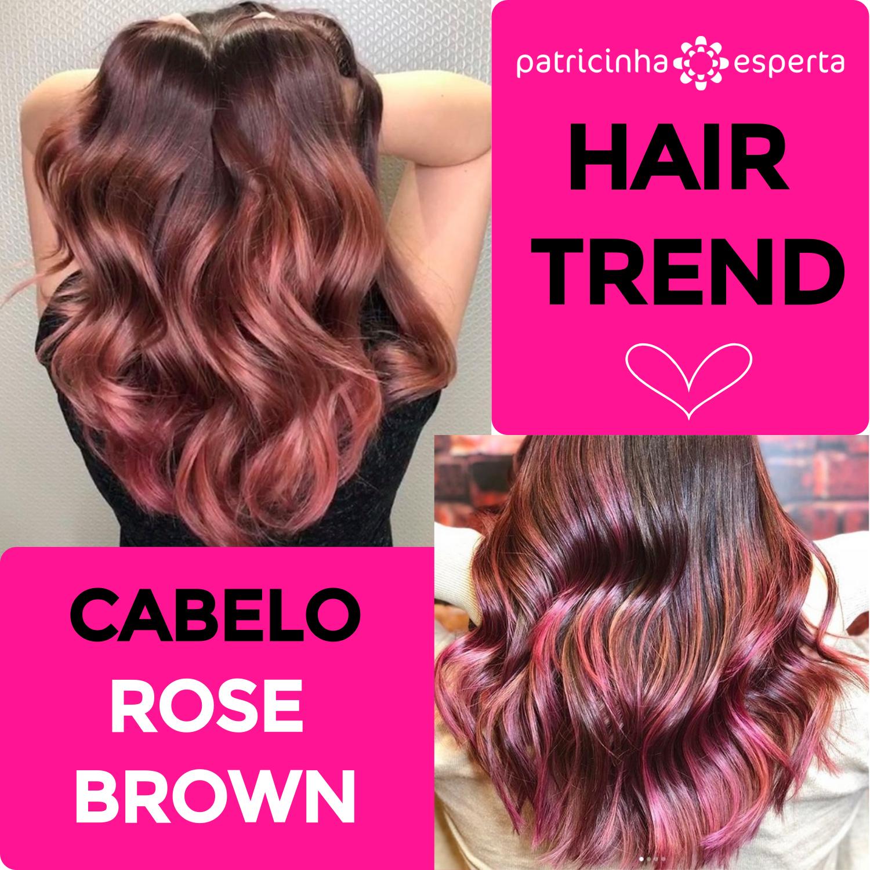cabelo rose brown - Cabelo Castanho Chocolate: 50 fotos inspirações, dicas de cuidados