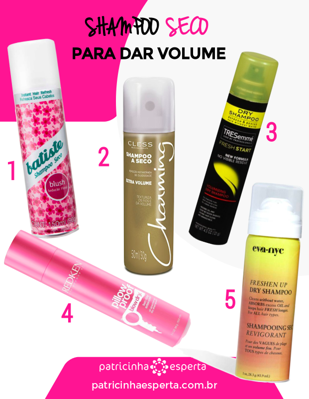 shampoo seco volume - Shampoo A Seco: Melhores, Tipos, Resenhas, Como Usar, Benefícios