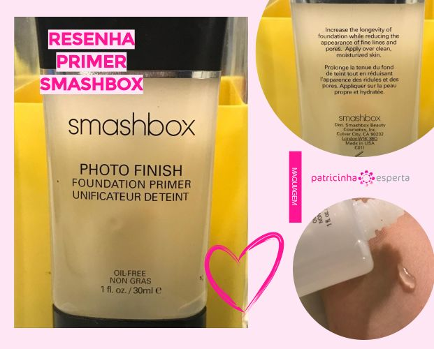 RESENHA PRIMER SMASHBOX1 - Primer Smashbox Resenha: Como Funciona, Diferenças, Como Usar