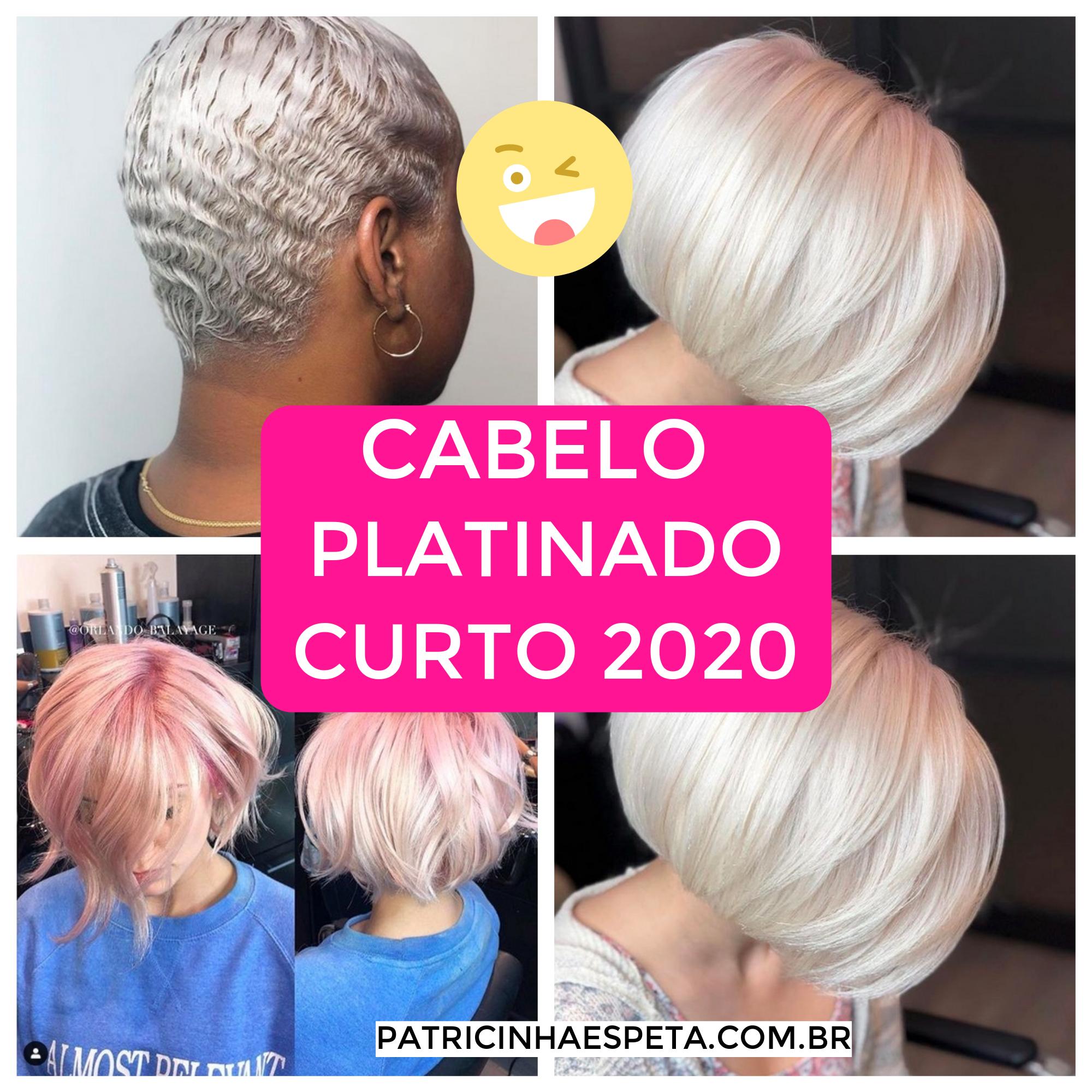 cabelo platinado curto 3 - Cabelo Platinado Curto 2019/2020: Tendências de Cortes, Cores, Fotos